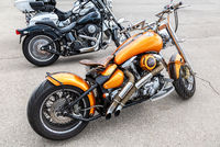 Different modern motorbikes
