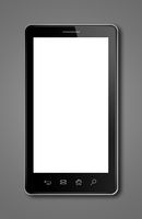 smartphone, digital tablet pc template isolated on dark grey