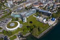 Hauptsitz des Schweizer Nahrungsmittelkonzerns Nestle S.A. am Genfersee, Vevey, Schweiz