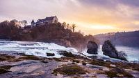 Rhinefall Waterfall in Switzerland