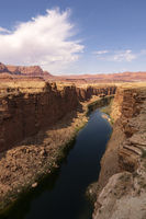 The Colorado River at the Navajo Bridge in Marble Canyon