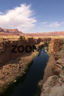 The Colorado River at the Navajo Bridge in Marble Canyon