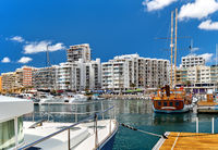 Port of San Antonio de Portmany. Ibiza Island. Balearic Islands. Spain