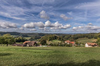 Aussicht von Schlossrued Richtung Schöftland und Basel, Aargau, Schweiz