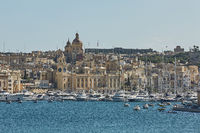 View of Valletta in Malta and its old architecture
