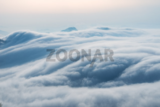 spectacular waterfall clouds closeup
