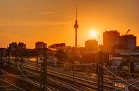 Sonnenuntergang in Berlin