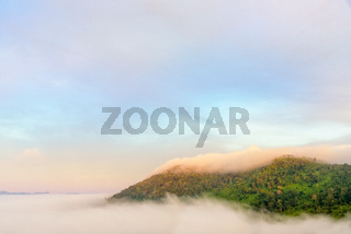 Fog in the valley at Khao Kho