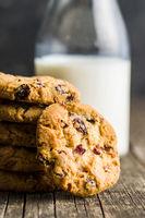 Sweet cookies with raisins.