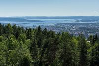 Blick vom Grefsenkollen auf Oslo