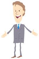 businessman cartoon happy character