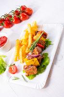 sweet potato fries with spicy paprika shashlik