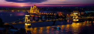 Budapest in evening