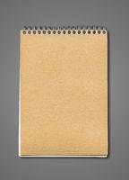 Spiral closed notebook mockup