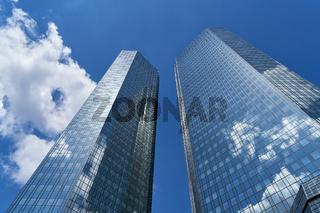 Moderne Bank Gebäude in Frankfurt am Main