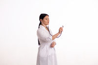 Nurse with stethoscope.