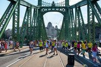 People dancing on Liberty bridge