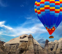 rock landscape Cappadocia Turkey.