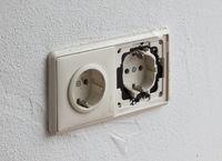 Broken European power socket