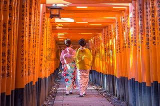 Fushimi Iniari Shrine in Kyoto, Japan