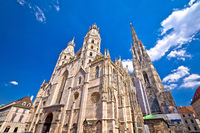 Saint Stephens Cathedral in Vienna view