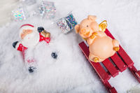 Pig and Santa Accident