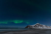 Lofoten Flakstad Polarlicht