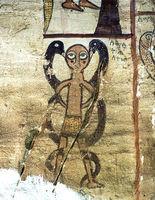 Fresko im Innern der Felsenkirche Debre Maryam Qorqor, Gheralta, Tigray, Äthiopien