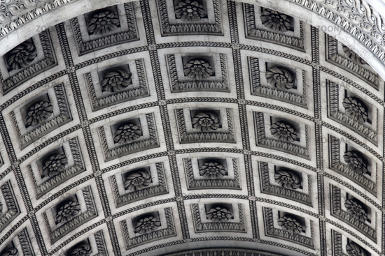 vault Triumphal arch in Paris is decorated with geometric pattern