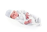 healthy newborn baby one week old sleeping