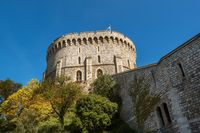 Round Tower of the Windsor Castle, Berkshire, England. Official Residence of Her Majesty The Queen.