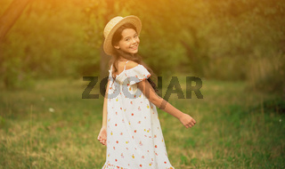 The Beautiful Girl In A Straw Hat In The Garden2