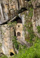 Predjama castle built into a cave in Slovenia