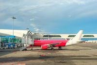 Airplane gangway, Kuala Lumpur airport