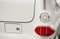 Right tail light white vintage car
