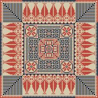 Palestinian embroidery pattern 36