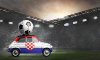 Croatia car on football stadium