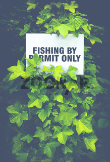 Scottish Fishing By Permit Only Sign
