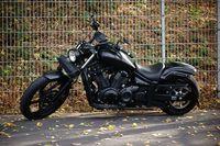 Schwarzes Harley Davidson Motorrad