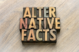alternative facts word abstract wood type