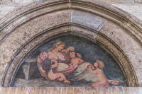 Old religious painting in Dubrovnik