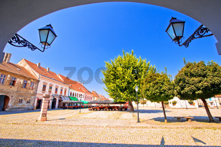 City of Osijek historic Tvrda town square view