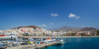 Los Cristianos town in Tenerife