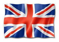British flag isolated on white