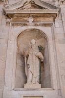 Statue of Saint Blaise in Dubrovnik