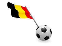 Soccer ball with the flag of Belgium