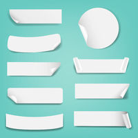 Paper Label Isolated Mint Background
