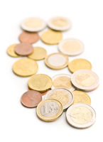 Euro money. Euro coins.