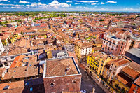 City of Verona aerial view from Lamberti tower