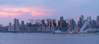 Sunset Light over Midtown Manhattan from Across The River